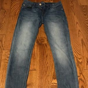 Express skinny mid rise jeans